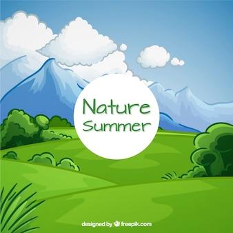 手描き自然の背景