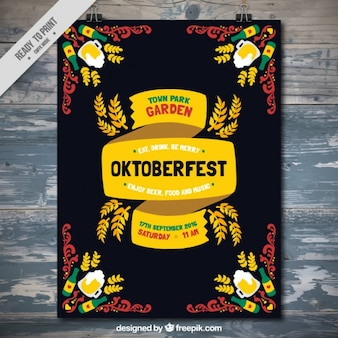 Октобер, плакат партии