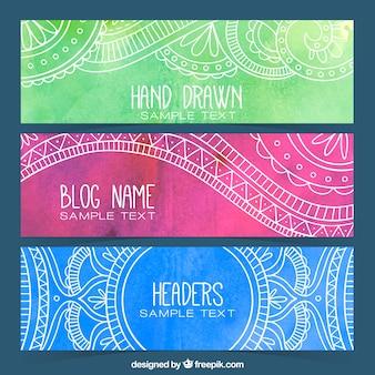装飾用の水彩画のブログのヘッダー