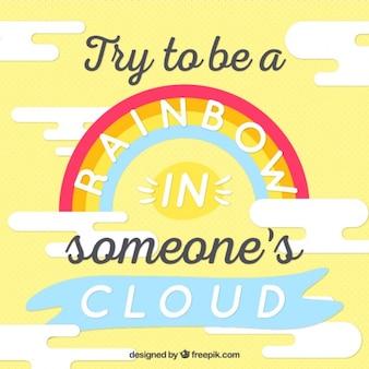 Положительная мысль цитата с радугой