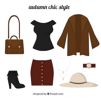 秋のシックなスタイルのデザイン