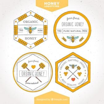 純粋な天然蜂蜜、ロゴのコレクション