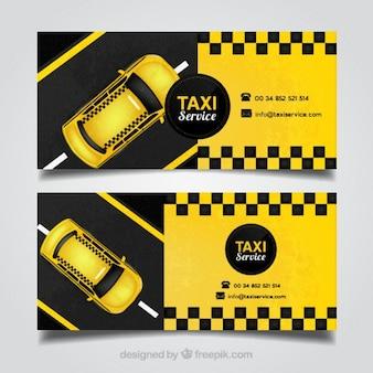 黄色のタクシー運転手のカード