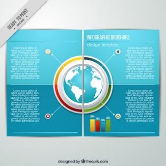 ブルーインフォグラフィックパンフレット