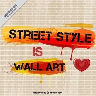 壁にはアート