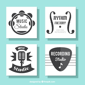 音楽スタジオのための美しいカードのコレクション