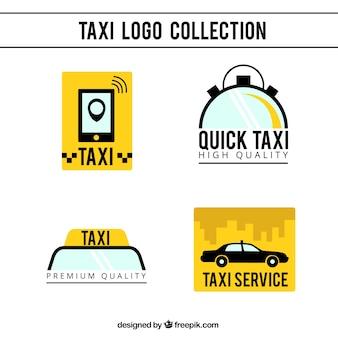 Пакет современных такси логотипов