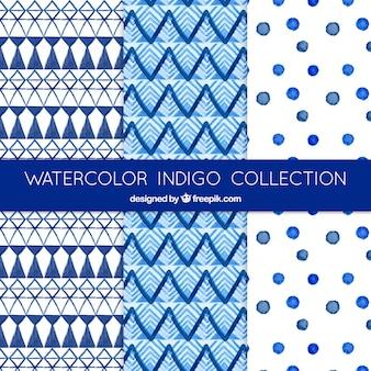 青色の抽象的な形パターン
