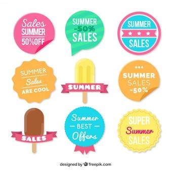 Красивый летний дело наклейки