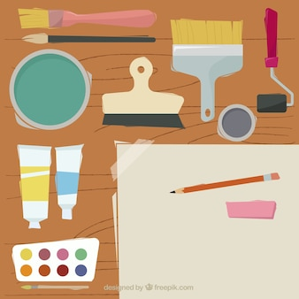 描画要素とブラシと表