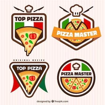 ピザ、ロゴ