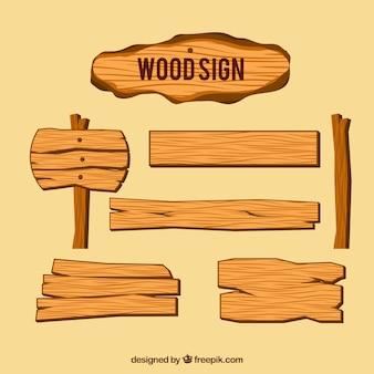 Деревянные знаки