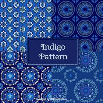 Синий цветочные формы абстрактные узоры