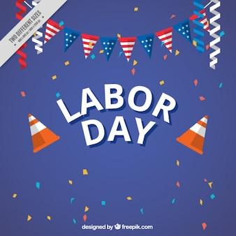 バーベキューと労働日のお祝いの背景
