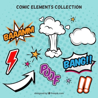 コミック要素のコレクション