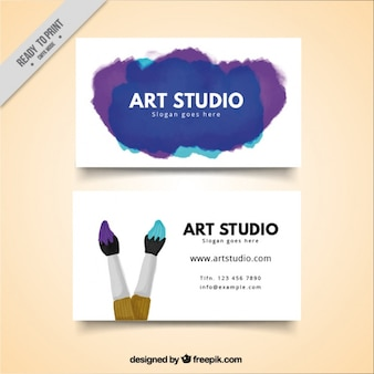 アートスタジオカード、水彩画