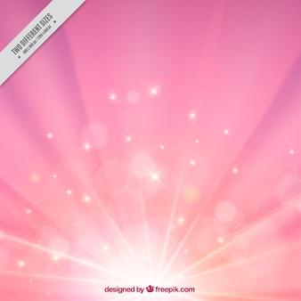 オレンジ色のピンクのサンバースト背景