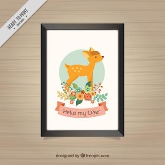 子鹿の装飾的なフレーム