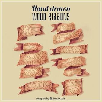 Деревянные ленты ручной росписью