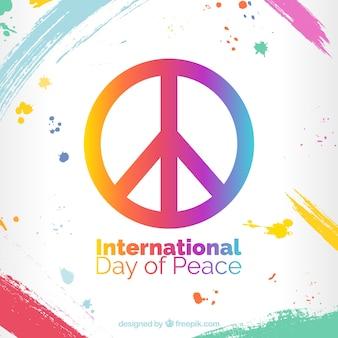 平和のカラフルなシンボルと背景