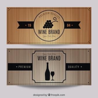 Набор для вина бренда баннер
