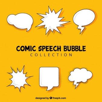 Коллекция речи пузыри без сообщений