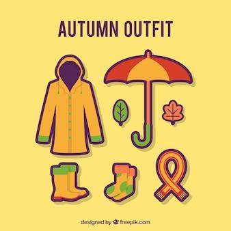 秋の服のセット