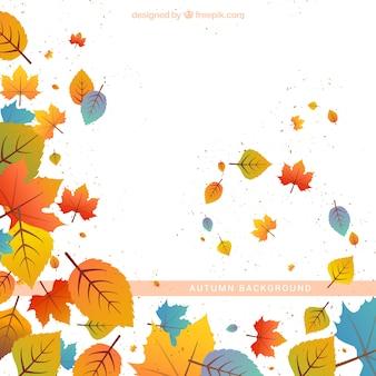 手描きの装飾的な葉の背景