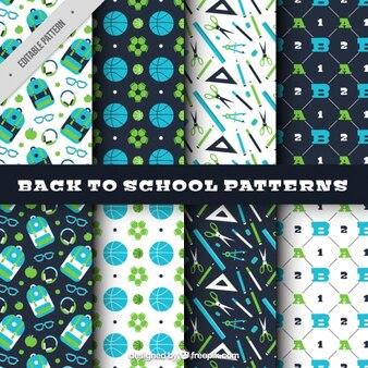 学校に戻ってのためのパターン