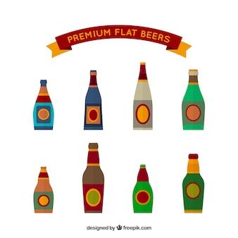 カラフルなビールびんコレクション