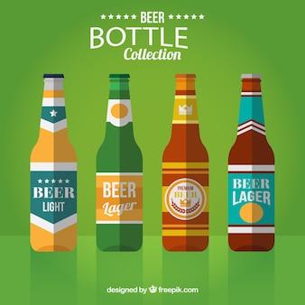 ビールの異なるタイプのボトル