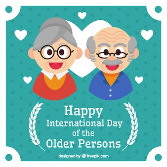高齢者の素敵な背景のお祝い