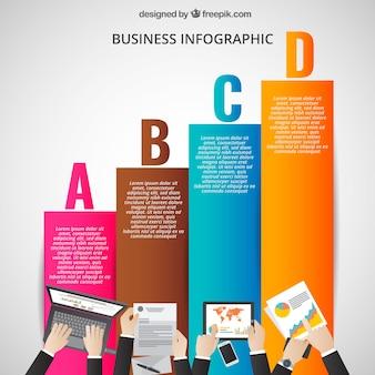 チャートでビジネスインフォグラフィック