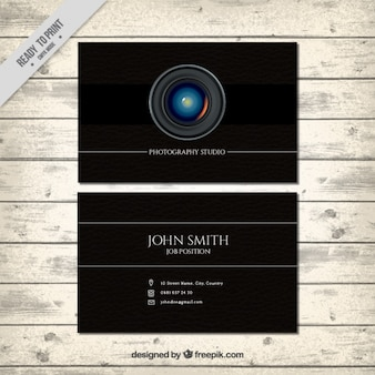 撮影用のブラックカード