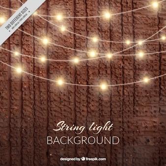 Реалистичный фон с струнные светильники