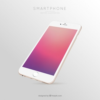 色のグラデーションのモバイル画面