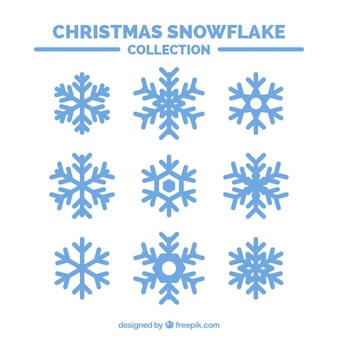 装飾用の雪片のセット