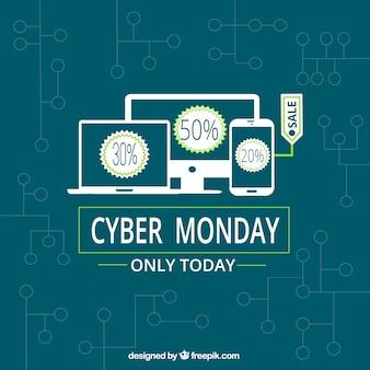 Абстрактный фон кибер-понедельник