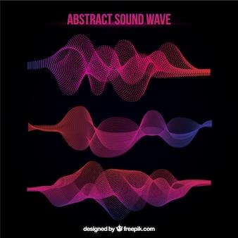 カラフルな音波のコレクション