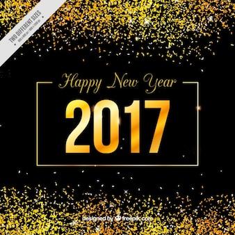 Новый год золотой фон с блеском