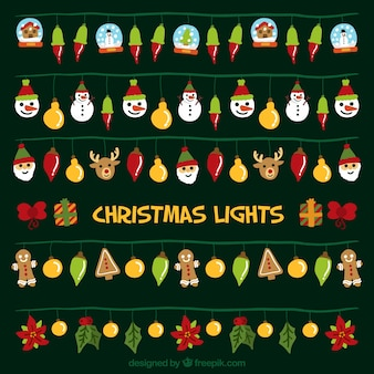装飾クリスマスライトの素晴らしいコレクション