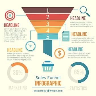 グラフと幾何学的なビジネスインフォグラフィック