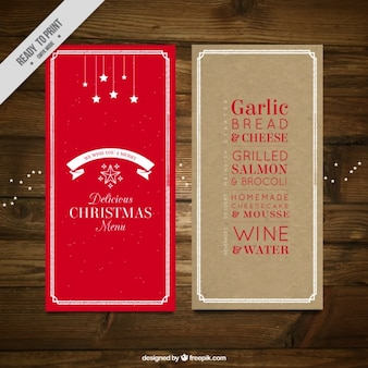 Красный меню рождества