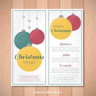 Рождественское меню с шарами