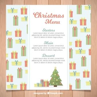 Симпатичные рождественские меню