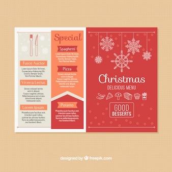 Красивый красный рождественские меню
