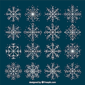 Симпатичная коллекция снежинка