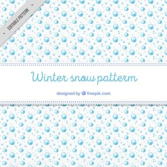水彩冬の雪のパターン