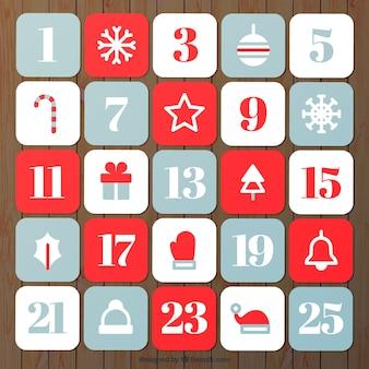 手描き単純なアドベントカレンダー