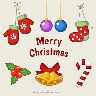 伝統的なクリスマスの飾り